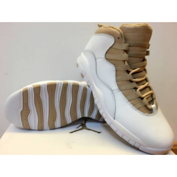 50dfd2f9158492 Air Jordan 10 White gold