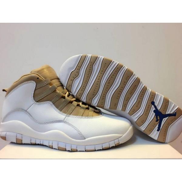 48c42206e683 Air Jordan 10 White gold
