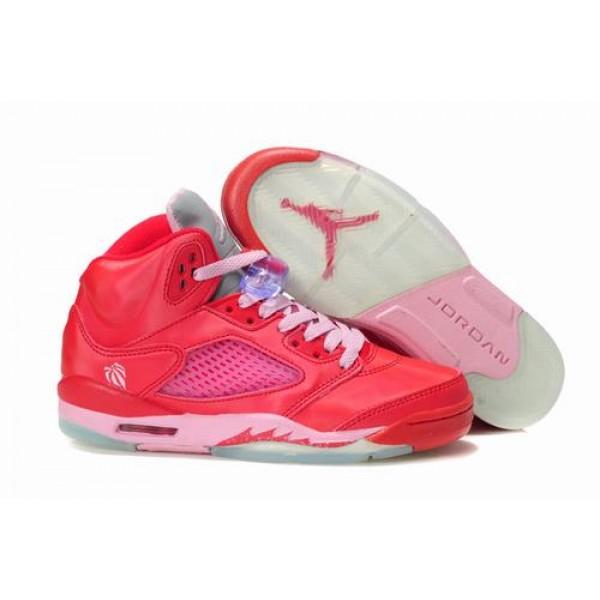 new arrival 6a0a9 09925 Air Jordan V (5) Retro Women Red Pink-35