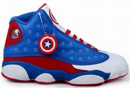 watch 62da8 bdf8f Air Jordan 13 Captain America - Jordans for Men