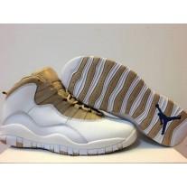 Air Jordan 10 White gold