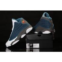 Air Jordan 13 Flint Blue/Grey/White