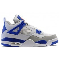 Air Jordan 4 White/Blue/Orange