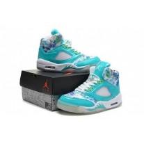 Air Jordan 5 Women Blue/White