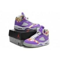 Air Jordan 5 Women Purple/White