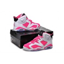 Air Jordan 6 White Pink For Women
