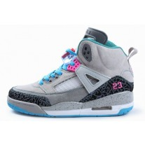 Air Jordan Spizikes Women Grey Black White Blue-22