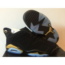Air Jordan 6 black gold Women