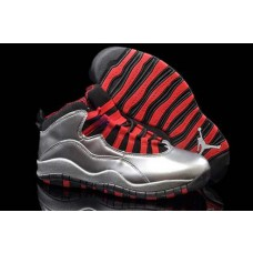 Air Jordan 10 Silver/Black/Red