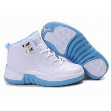 Air Jordan 12 White/Blue Women