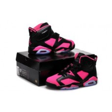 Air Jordan 6 Black Pink For Women