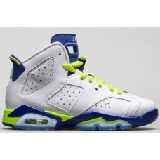 Air Jordan 6 Retro Girl's White/Bright