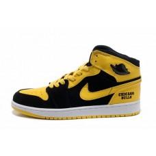 Air Jordan I (1) Retro Black Yellow White-129