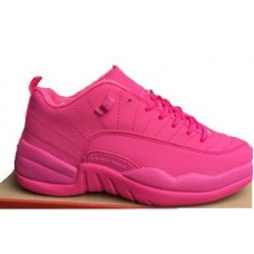 Air Jordans 12 GS All Pink