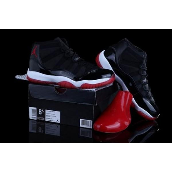 39982d74b8c Air Jordan 11 Bred Black/White/Varsity Red - Jordans for Men