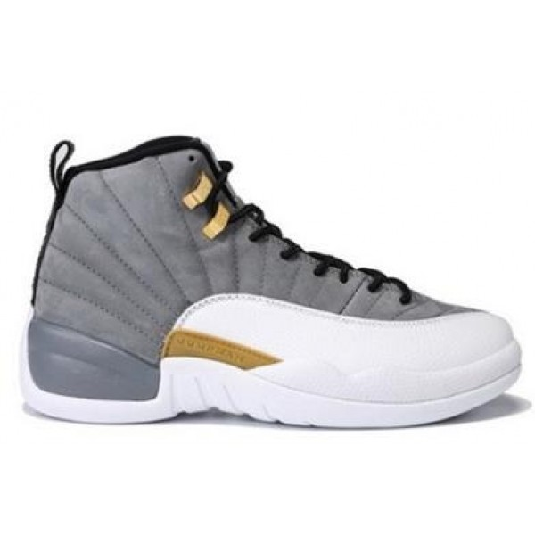 2246702adc76 Air Jordan 12 Cool Gray Gold White - Jordans for Men