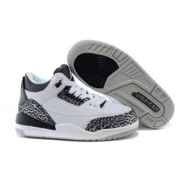 presenting exclusive shoes factory price Air Jordan 3 Wolf Grey For Kid