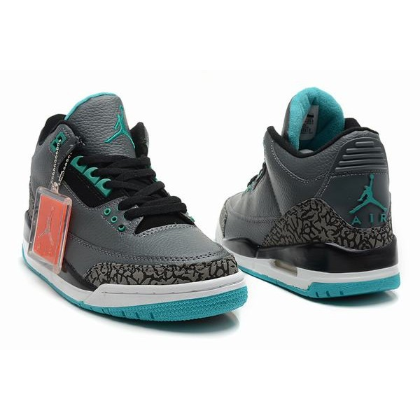 e5c34812c6bb Air Jordan III (3) Retro Grey White Blue-82 - Jordans for Men