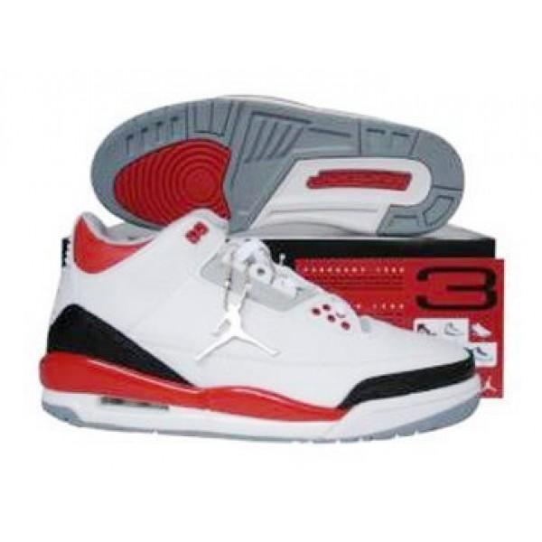 492e77870e4d3b Jordan 3 Retro White Fire Red Cement Grey - Jordans for Men